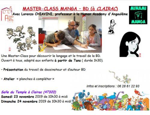 Master Class MANGA avec Lorenzo Chiavini